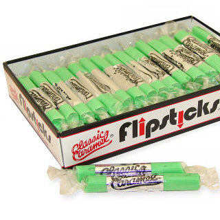 Sour Apple Flipsticks Caramel Candy - 48ct