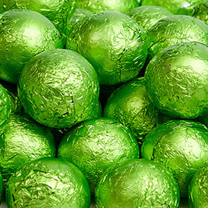 Kiwi Milk Chocolate Balls - Foil 10lb