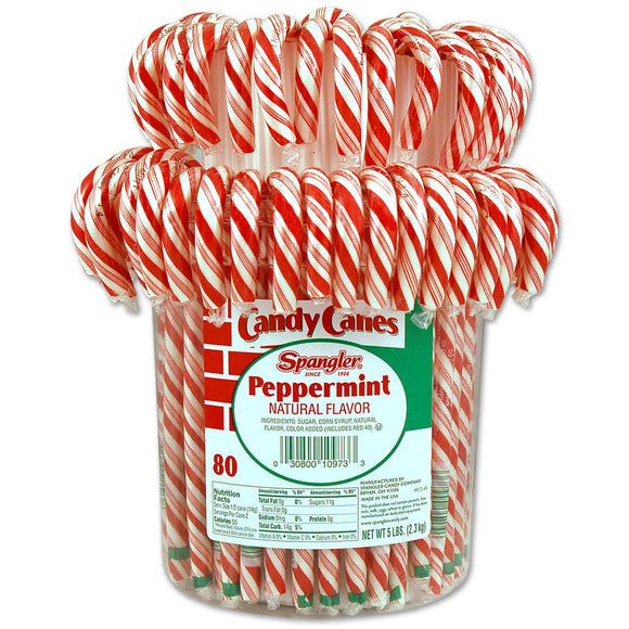 Candy Canes Peppermint - 80ct Tub