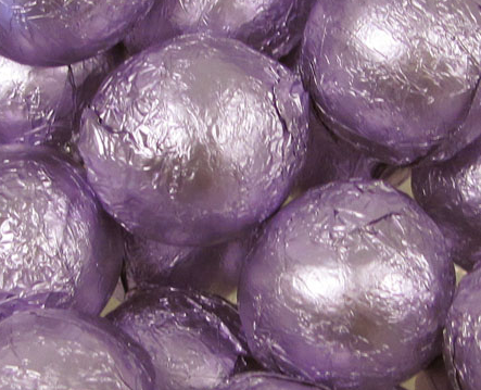 Lavender Foiled Chocolate Balls - 10lb
