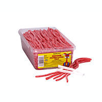 Sour Power Straws Strawberry - 200ct