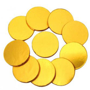 Gold Chocolate Coins Plain - 1.5-Inch 5lb Bag
