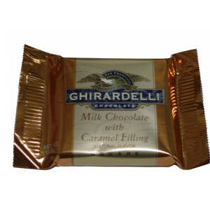 Ghirardelli Squares - Milk Chocolate With Caramel 120ct