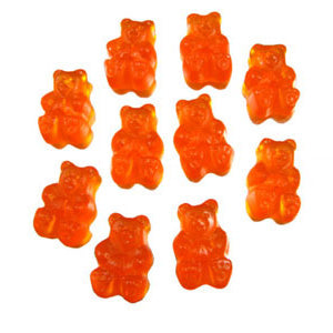 Ornery Orange Gummi Bears - 5lb