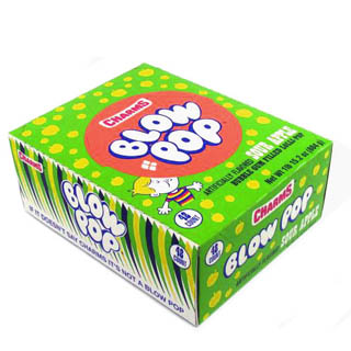 Sour Apple Blow Pops - 48ct Box