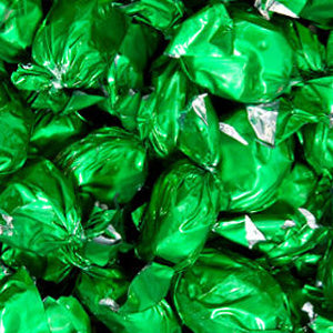 Green Foil Wrapped Hard Candy - Lime 5lb