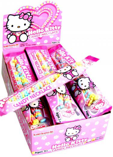 Hello Kitty Candy Necklaces - 12ct Display Box