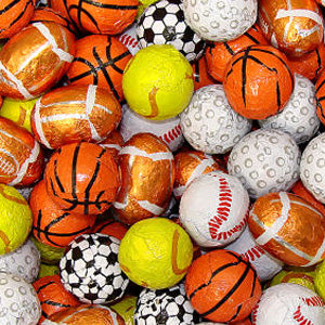 Chocolate Sports Balls Assorted - 5lb Bag