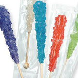 Assorted Rock Candy Sticks - Wrapped 120ct