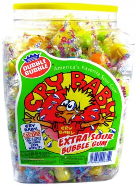 Cry Baby Bubble Gum Balls - 240ct Tub