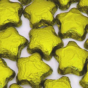 Gold Chocolate Stars - Foil Wrapped 5lb Bag