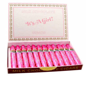 It's a Girl Chocolate Cigars - 24ct