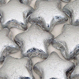 Silver Chocolate Stars - Foil Wrapped 5lb Bag