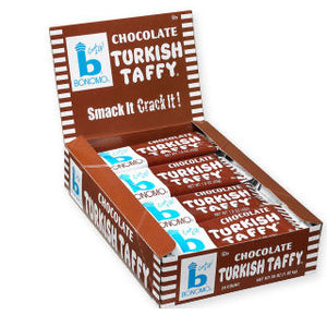 Chocolate Turkish Taffy by Bonomo - 24ct