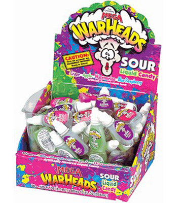 Warheads Liquid Candy Bottles - 24ct