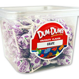 Dum Dum Pops - Grape 1lb Tub