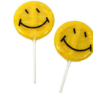 Smiley Face Lollipops - 24ct