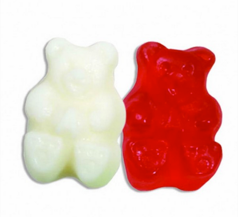 Red & White Valentine Gummi Bears - 5lb