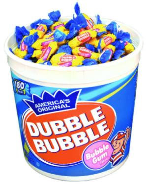 Dubble Bubble Original Flavor - Long Pieces 180ct Tub