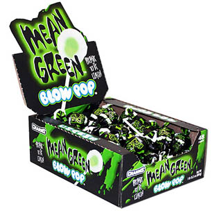 Mean Green Blow Pops - 48ct Box