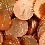 Copper Penny Chocolate Coins - 10lb Bag