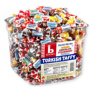 Assorted Turkish Taffy by Bonomo - 216ct Tub