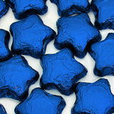 Blue Chocolate Stars - Foil Wrapped 5lb Bag