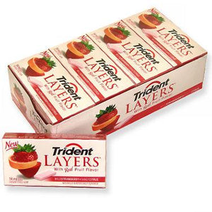 Trident Layers - Wild Strawberry Tangy Citrus 12ct