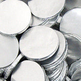 Silver Chocolate Coins Plain - 5lb Bag