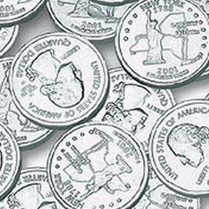 Silver Chocolate Coins State Quarters - 5lb Bag