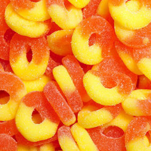 Peach Gummi Rings - 4.5lb