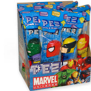 Marvel Comics Pez Dispensers - 12ct Display Box