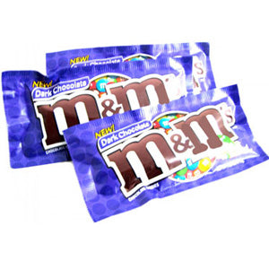 M&M's - Dark Chocolate - 1.69 oz bag, 24 count