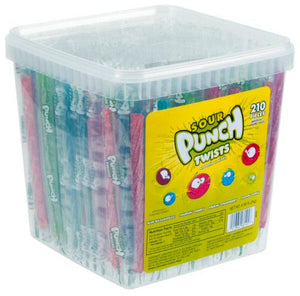 Sour Punch Twists Assorted - Wrapped 195ct Tub