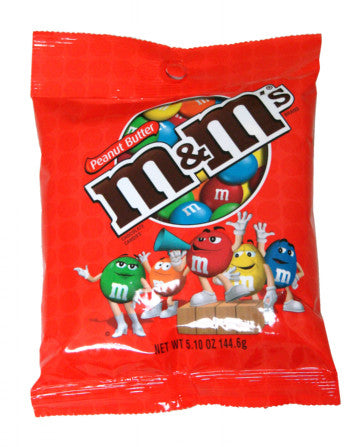 Peanut Butter M&M's - 12ct Peg Bags