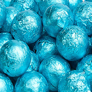 Caribbean Blue Milk Chocolate Balls - Foil 10lb