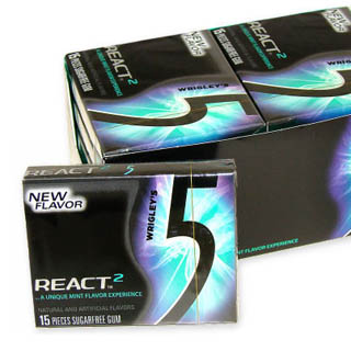 Wrigley's 5 Gum - React 2 Mint 15-Stick 10ct