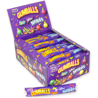 Nerds Gum Balls 5-Ball Tube - 24ct