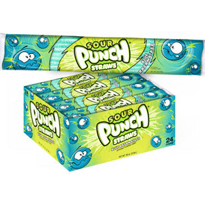 Sour Punch Straws 2oz Packs - Blue Raspberry 24ct