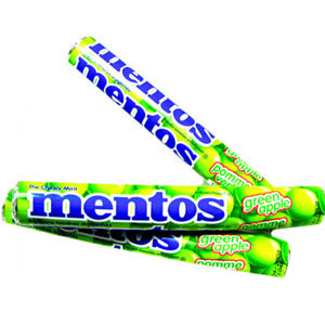 Green Apple Mentos Rolls - 15ct