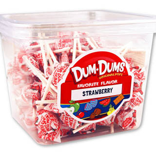 Dum Dum Pops - Strawberry 1lb Tub