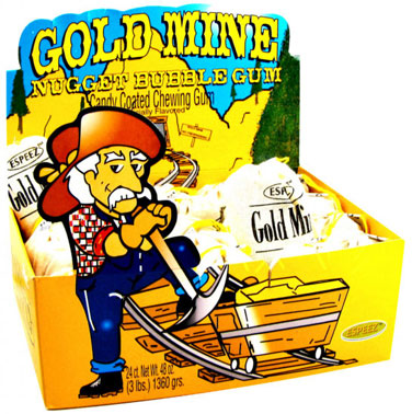 Gold Mine Bubble Gum - Original 24ct Display Box