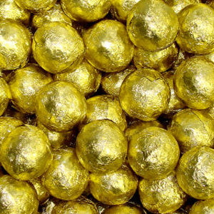 Gold Chocolate Marbles - Foil Wrapped 5lb Bag