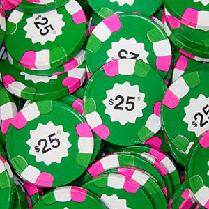 Milk Chocolate Poker Chips - Green $25 10lb