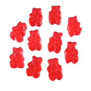 Fresh Strawberry Gummi Bears - 5lb