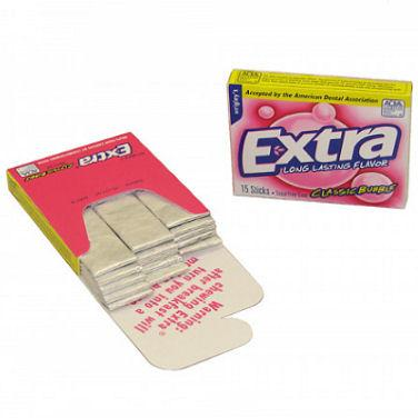 Wrigley's Extra Bubble Gum - Slim 10ct