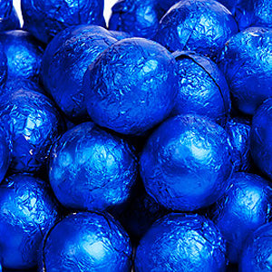 Royal Blue Milk Chocolate Balls - Foil 10lb