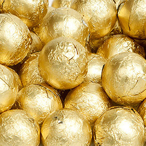 Gold Milk Chocolate Balls - Foil 10lb