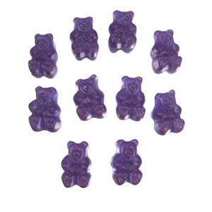 Concord Grape Gummi Bears - 5lb