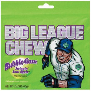 Sour Apple Big League Chew - 12ct